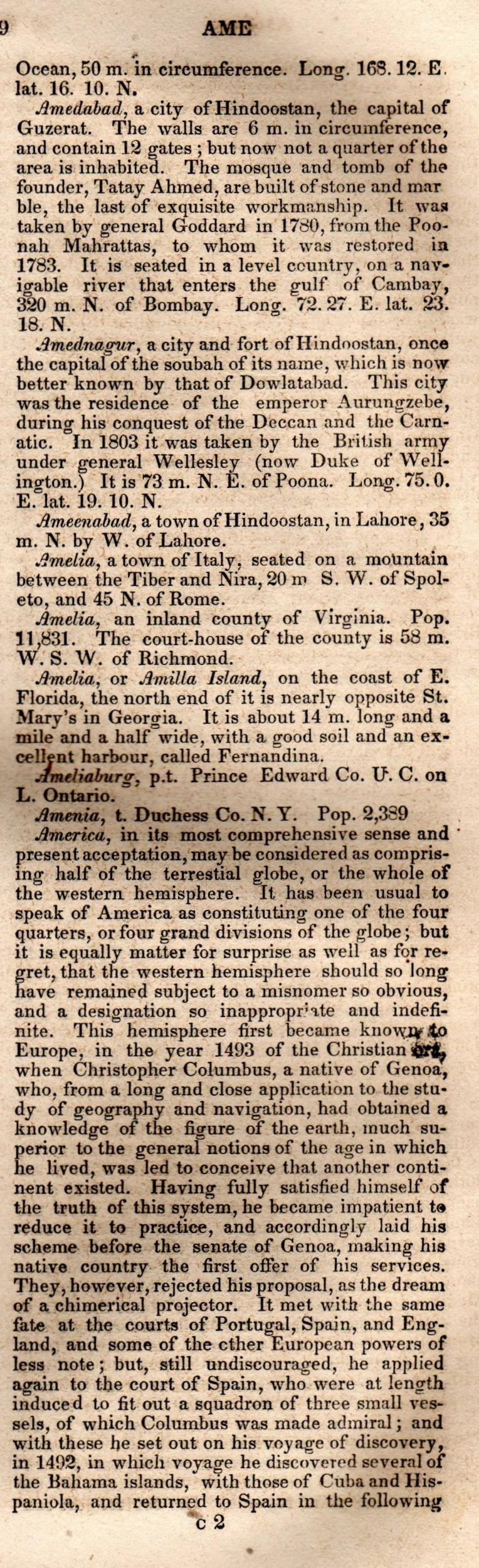 Brookes' Universal Gazetteer (1850), Page  29  Right Column