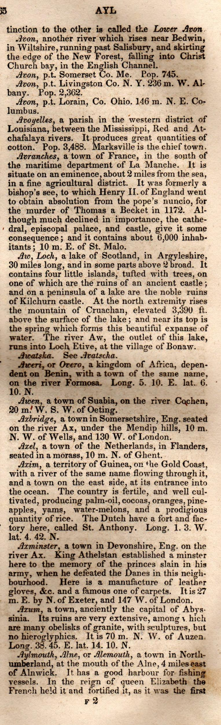 Brookes' Universal Gazetteer (1850), Page  65  Right Column