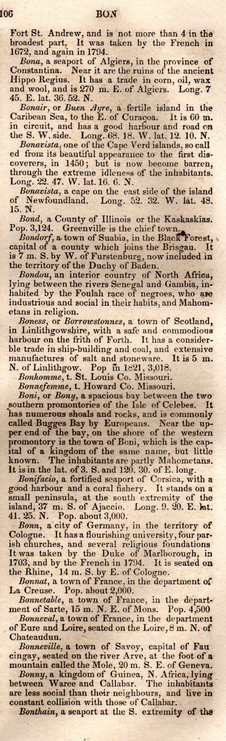 Brookes' Universal Gazetteer (1850), Page  106  Right Column