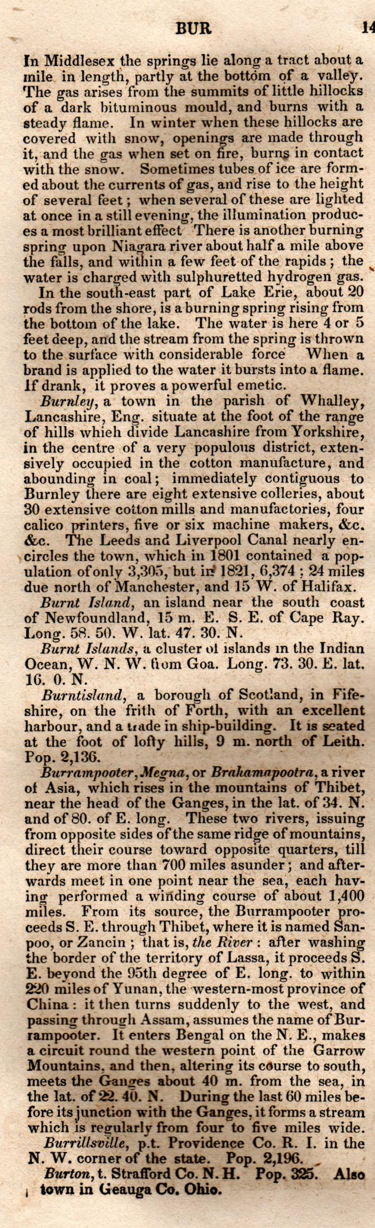 Brookes' Universal Gazetteer (1850), Page  140  Left Column