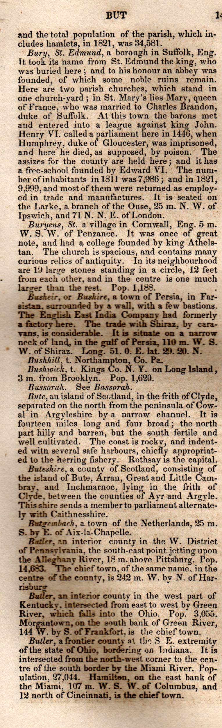 Brookes' Universal Gazetteer (1850), Page  141  Left Column