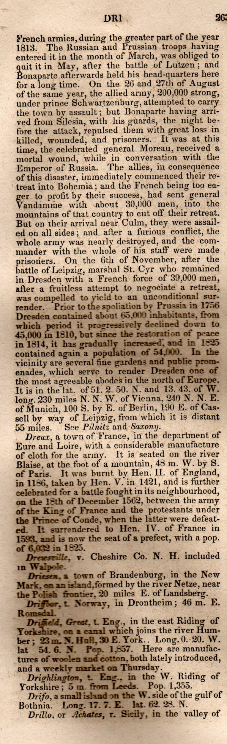 Brookes' Universal Gazetteer (1850), Page  263  Left Column
