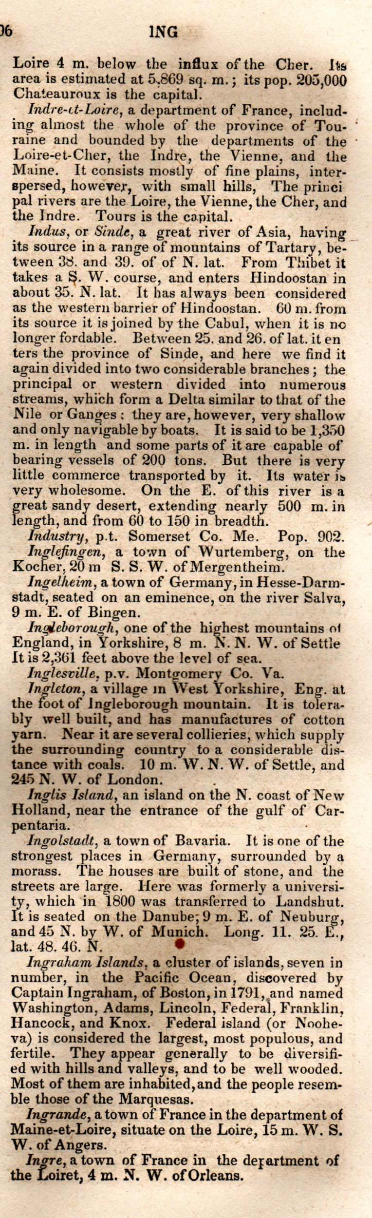 Brookes' Universal Gazetteer (1850), Page  396  Right Column