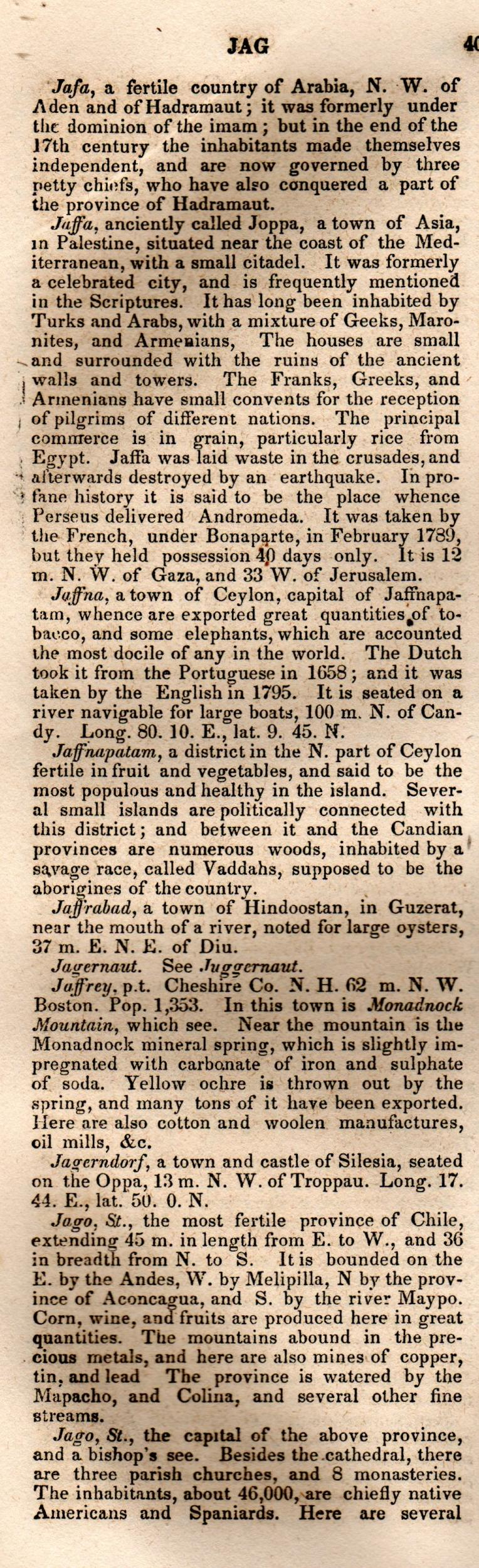 Brookes' Universal Gazetteer (1850), Page  404  Left Column