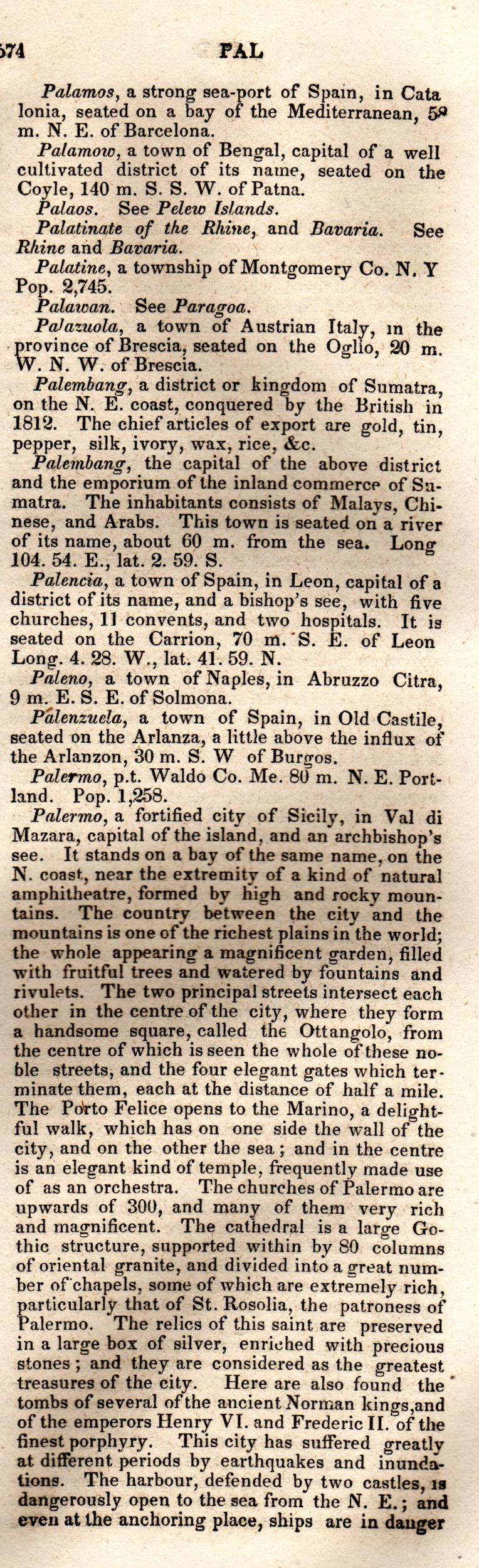Brookes' Universal Gazetteer (1850), Page  574  Right Column