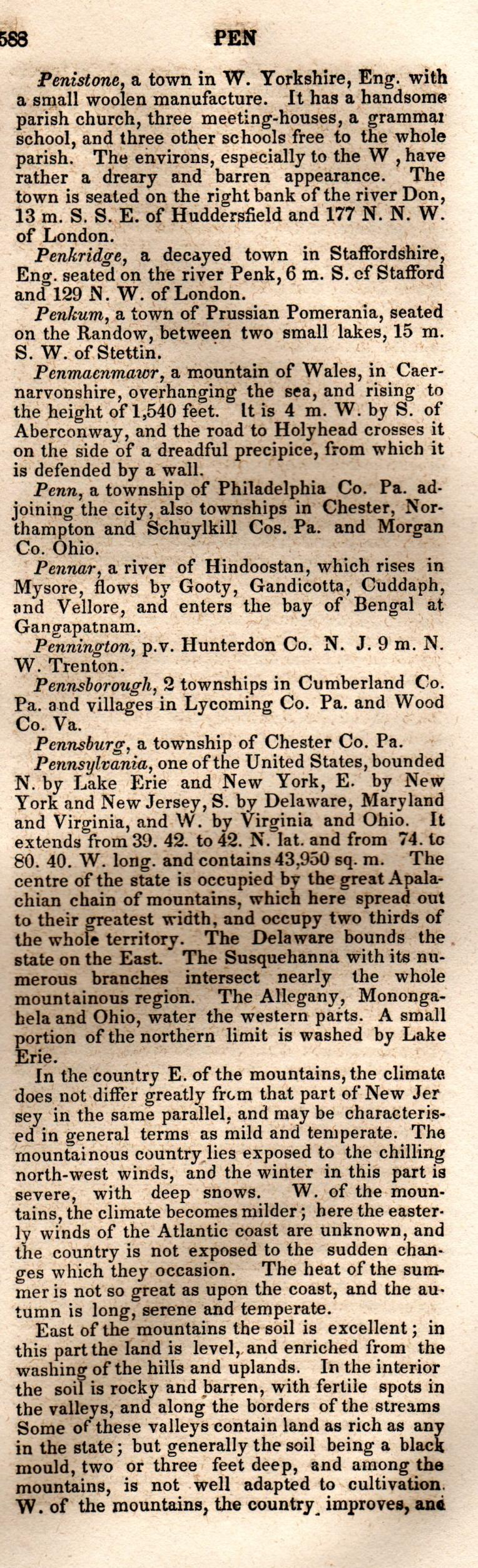 Brookes' Universal Gazetteer (1850), Page  588  Right Column