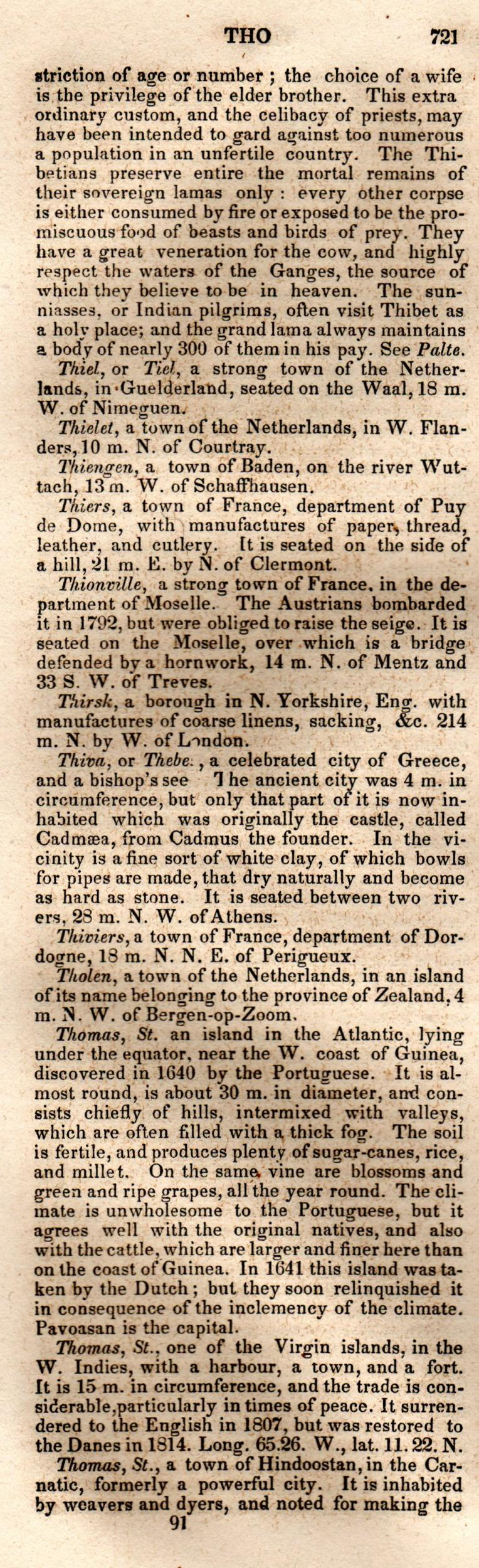 Brookes' Universal Gazetteer (1850), Page  721  Left Column