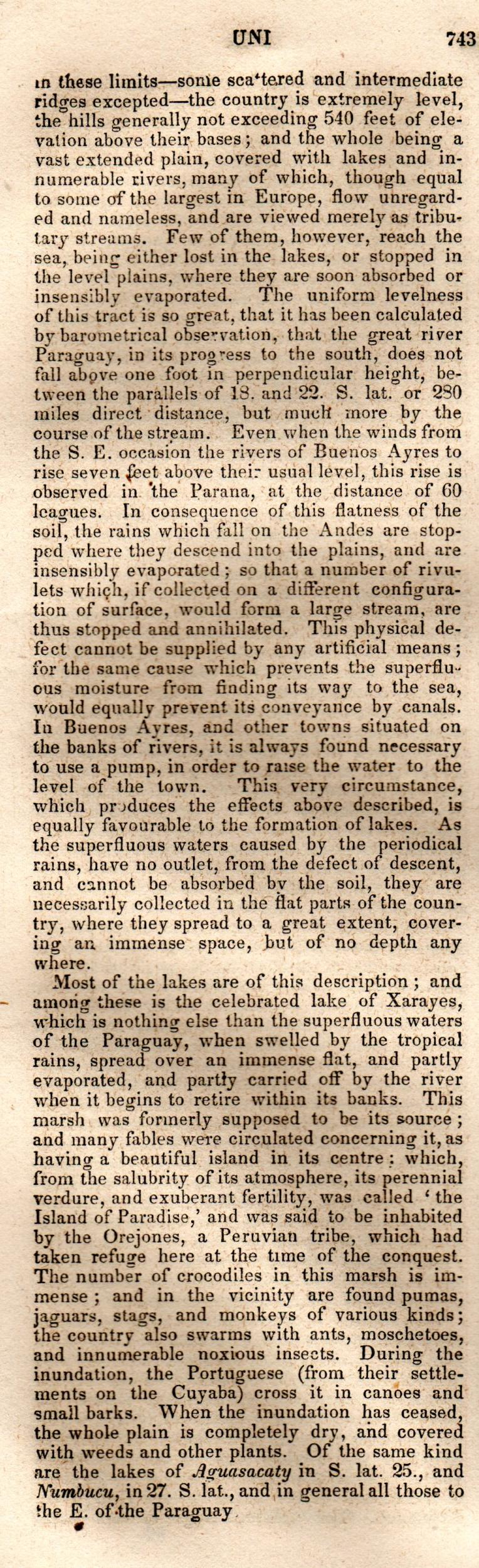 Brookes' Universal Gazetteer (1850), Page  743  Left Column