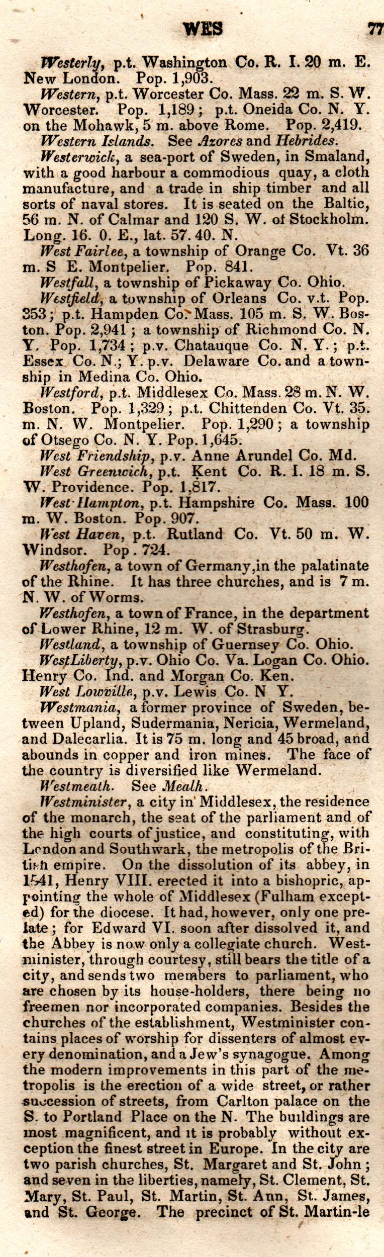 Brookes' Universal Gazetteer (1850), Page  775  Left Column