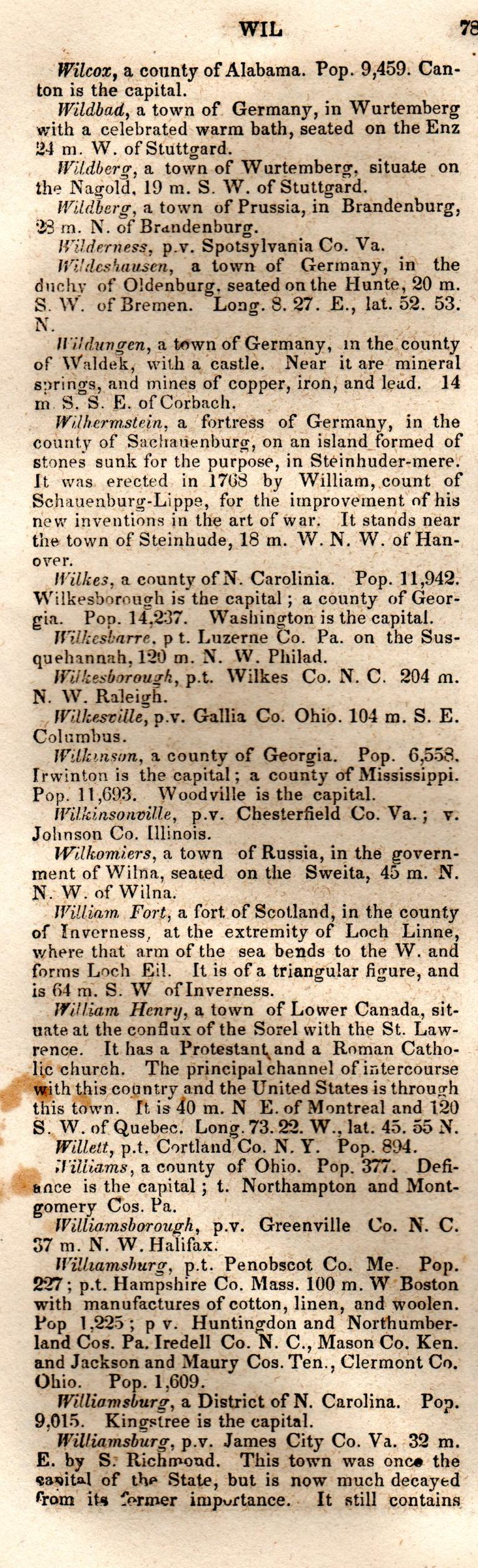 Brookes' Universal Gazetteer (1850), Page  781  Left Column