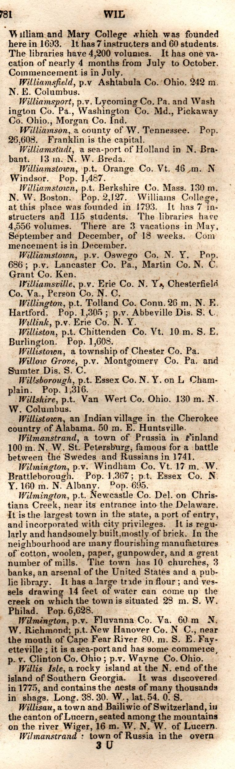 Brookes' Universal Gazetteer (1850), Page  781  Right Column
